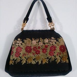 Amazing Bienen Davis New York 40s velvet purse